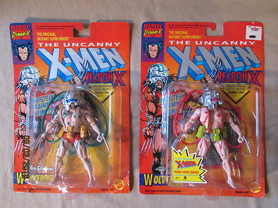 Marvel Comics X-Men Wolverine Weapon X Red & Green Variant Figures New Unopened