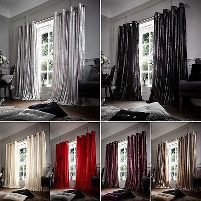 Stripe Shiny Luxury Curtains Ready Made Eyelet Top Fully Lined With Tie Backs
