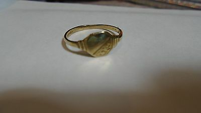Dainty 9 carat gold signet ring size L and a half