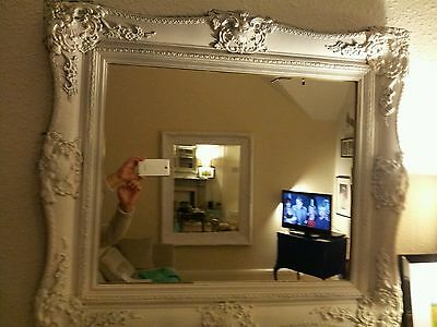 Antique  Mirror plaster on wood origional Good Condition 31 X 34 inch