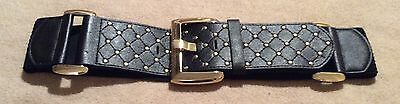 Jane Norman Black Studded Belt 58mm Wide Size S/M