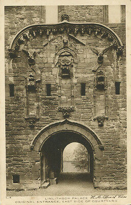 Linlithgow Palace East Side of Courtyard  West Lothian  Vintage Postcard