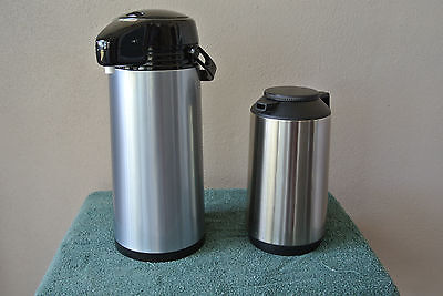 OGGI 2.2 Liter Glass Lined Airpot Coffe Dispenser and Thermos Combo