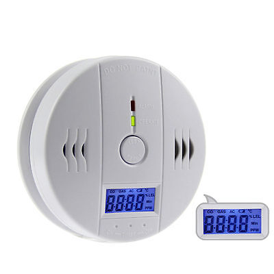 LCD Carbon Monoxide RoHs Poisoning Gas Warning Sensor Detector Home Safety