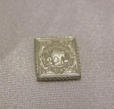 Solid Silver Stamp Niger Coast Protectorate 20 Shilling Surcharge Queen Victoria