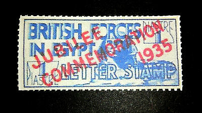 Egypt British Occupation 1935 Silver Jubilee Overprint In Red, Fake