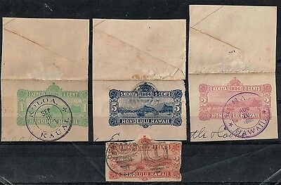 Hawaii Four Ps Stationery On Fragment Used Good Cancellations