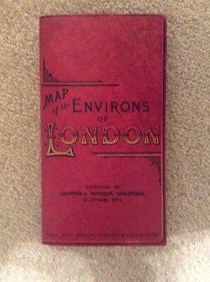 The Environs of London. Gall Inglis. map.