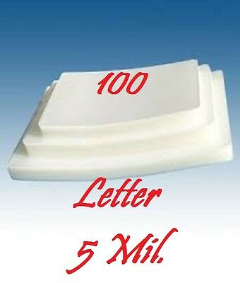 5 MIL Letter Size  Laminating Pouches Sheets, 9 x 11-1/2 (100 PK)  Free Carrier