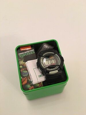 Superhero Teenage Mutant Ninja Turtles Boys Watch Black Green TMNT Gift Box