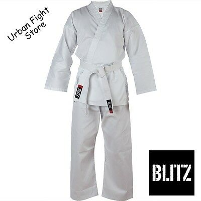 Blitz Adult 100% Cotton  Karate/Aikido Suit/Gi  with FREE BELT Sizes 160-210