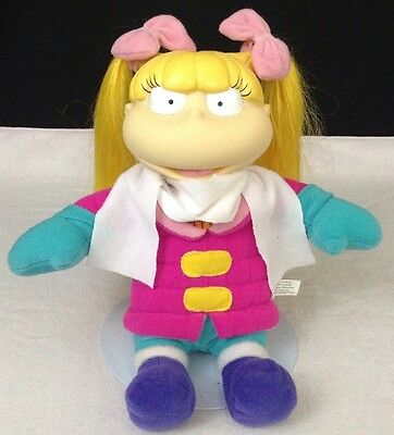"1999 Viacom WINTER TIME FUN Rugrats 11"" ANGELICA Stuffed Plush Doll w vinyl head"