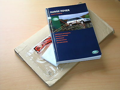 Range Rover Owners Manual Handbook, Immaculate Condition, Printed in 2003