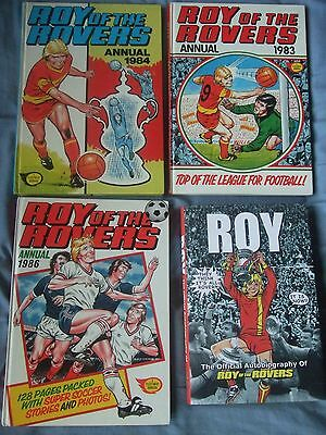 Roy of The Rovers. 3 Annuals & Autobiography