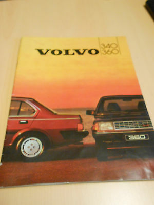document publicitaire VOLVO 340 / 360