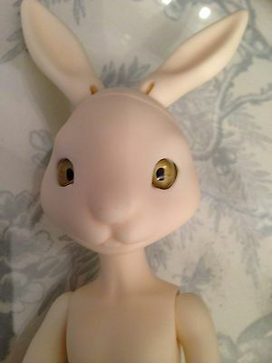 BJD rabbit  very rare .eyes open .fitted with eyes. NEW PRICE DROP
