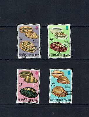 Gilbert & Ellice Islands: 1975 Cowrie Shells, fine used set + Miniature sheet