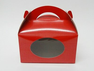 "Cookie Cake Boxes multipurpose Red    Pack of 10   3 1/4 ""x 6"" x 3 1/4"""