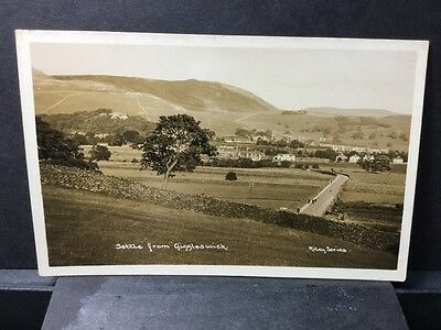 Settle From Giggleswick Real Photo Postcard Rileys Series. Ref 17/3195