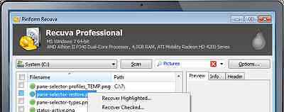 (Recover Photos Documents etc. With) Recuva Professional