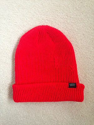 VANS red beanie one size new