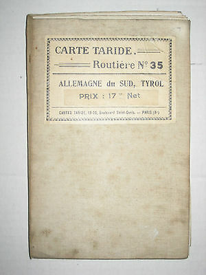 Vintage Map - Carte Taride - Routiere No 35 - South Germany & Tyrol c. 1920/30's