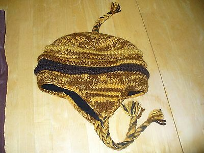 Gorgeous Nepalese wool 100% winter hat brand new one size