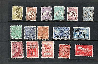 Australia - mix of used postage stamps