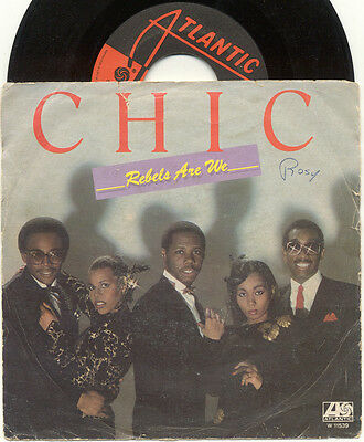 "CHIC Rebels Are We / Open Up 1980 ATLANTIC Italy 7"" 45 GIRI"