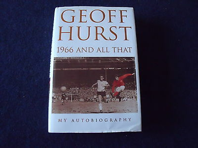 Geoff Hurst signed autobiography, World Cup squad 1966 and all that, 1st edition