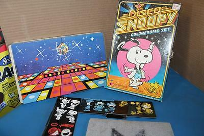 1978 Disco Snoopy Colorforms Set Charlie Brown Snoopy Woodstock