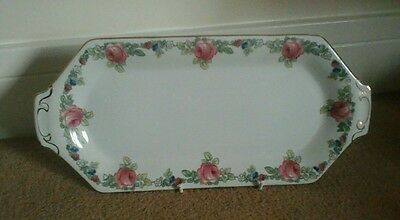 Vintage 1 x SANDWHICH China  tray Soho Pottery Cobridge   Solian Ware [v,g,c,]
