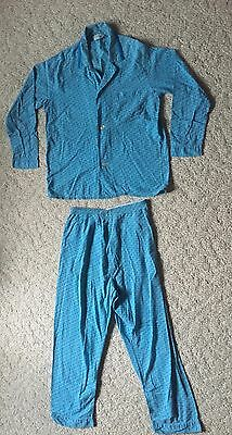 Vtg Pennleigh Men's 50/60's Blue Geometric Pajama Set