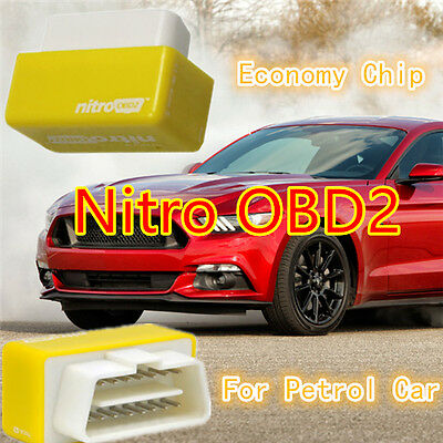 Economy Chip Tuning Box Interface Nitro OBD2 Yellow Performance For Petrol Cars