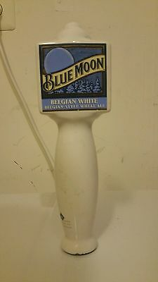 BLUE MOON Belgian White Wheat Ale Large Ceramic Beer Tap Handle Knob Bar 10 Inch