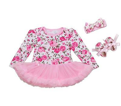 Pink Flower Clothes Dress Suit for 22 inch Reborn Newborn Dolls Baby Outfit