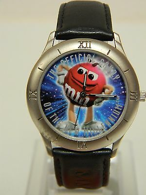 Mars Candy Red M&M Quartz Watch, New Millennium, Limited Edition, Very Cool!!