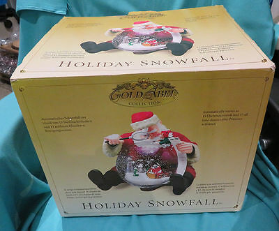 Vintage 2004 Holiday Snowfall Santa And Snow Dome Animated Musical Retired N/w