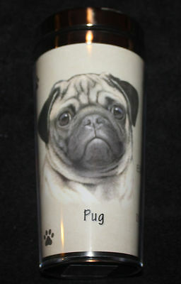 Pug Fawn Dog Stainless Steel Insulated Travel Tumbler Thermos