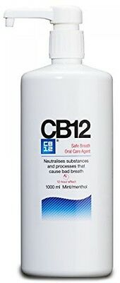 "CB12 Mint Menthol Mouthwash 1000ml ""Free Delivery"""