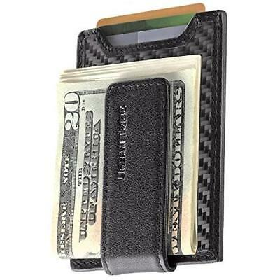 Secure, Slim Carbon Fiber Money Clip Wallet, RFID EDC Card Holder by Urban New