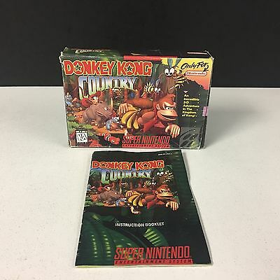 Donkey Kong Country Super Nintendo SNES -BOX & MANUAL ONLY