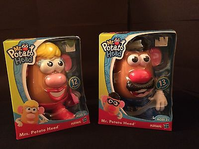 Brand-New! Lot 2 Mr. and Mrs. Potato Head Sets 25 Pieces Total Playskool Hasbro