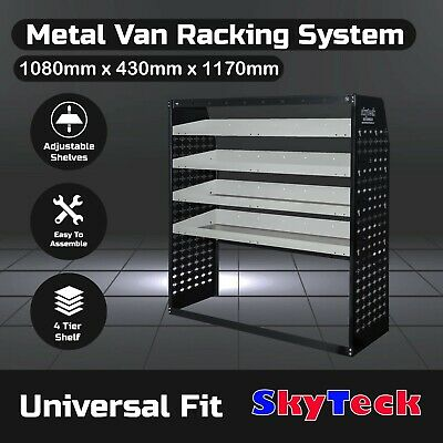 Van Rack Van shelving Guard 4 Shelf Trays Steel  Storage 108cm*43cm*117cm VS004