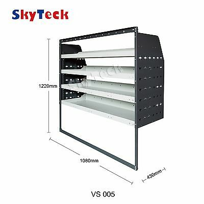 Vans shelvings toolbox 4 Shelf Trays Steel Racking tools 108cm*43cm*122cm VS005