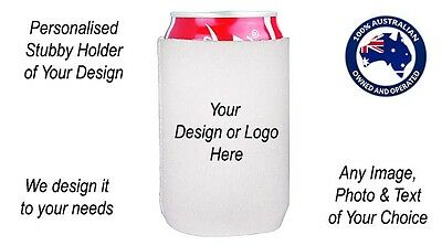 Personalised Photo Image Stubby Holder Cooler Can Beer - Any artwork with Text