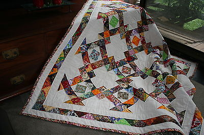 "DELIGHTFUL - 49"" - Quilt-Addicts Precut Patchwork Quilt Kit King Lap"