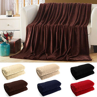 200*180 CM Luxury Warm Soft Coral Blanket Fleece Throw Sofa Double Bed