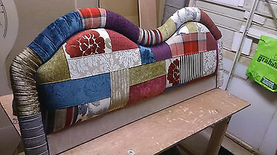 Unique Patchwork Headboard All sizes, King, Double sizes