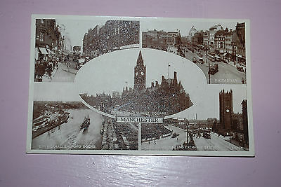 Valentines 1940's Real Photograph Town Hall,Piccadilly Manchester Etc